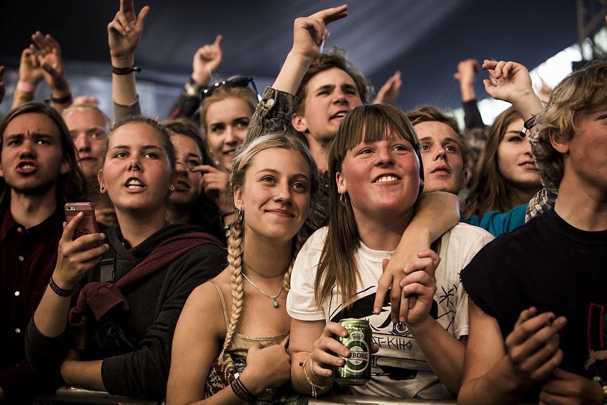 Publikum var ret glade for Earl Sweatshirt. Og for at festivalen var skudt i gang!