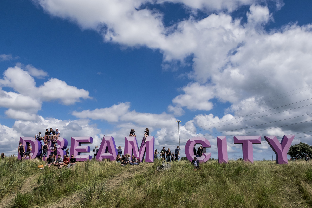 Dream City is an audience-driven area of the campsite where the most creative festivalgoers get to build their own unique camping area before the festival starts.