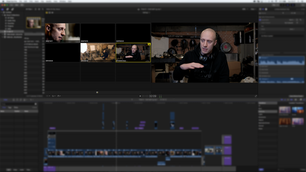 Multicam-funktionen i Final Cut Pro X